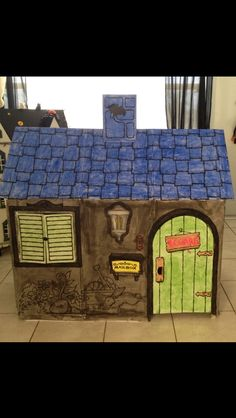 Itsallaboutnina — #DIY Cardboard Haunted House #DIY Halloween Decorations #Cardboard Playhouse Discovery...