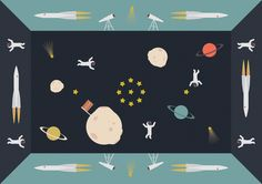 Carpet in space // Intersection // illustration