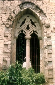 Stone Window Gothic Arch  Mountain Laurel Handrails at http://awoodrailing.com