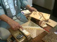 寄木細工の実演 - Yosegi Zaiku demonstration