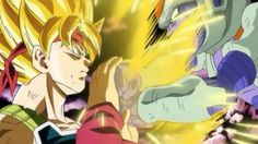 Bardock against Chilled in Dragon Ball: Episode of Bardock (2011)