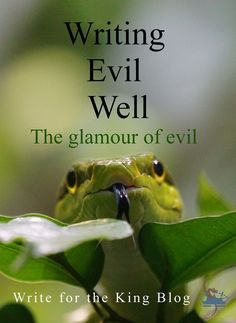 Writing Evil Well Guest post by Frances Tait portray evil as is something I heard a lot when I was growing up, especially from Christian sources. No vampire and werewolf romances, good witches, Creative Writing Tips, Book Writing Tips, Writing Process, Writing Resources, Writing Help, Writing Skills, Article Writing, Writing Images, Journal Writing Prompts