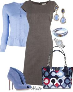 """""""Blue and Grey ..."""" by mrsbro ❤ liked on Polyvore"""