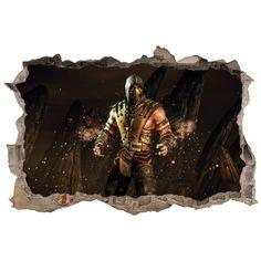 Vinilos 3D agujero pared mortal kombat scorpion Mortal Kombat, 3d, Frames, Decorating Bedrooms, Decorate Walls, Wall Decals, Vinyls