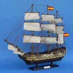 Handcrafted Nautical Decor Santisima Trinidad Model Ship