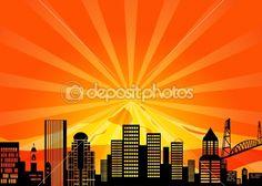 Portland Oregon Downtown City Skyline — Stock Photo #7548119