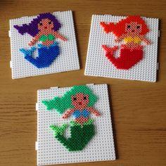 Mermaids hama beads by octopusgirl13
