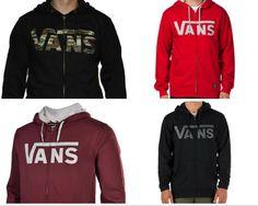 7fbd5c4df0d2 New VANS Mens Fleece Lined Native Camo Logo Classic Full Zip Hoodie  Sweatshirt  VANS