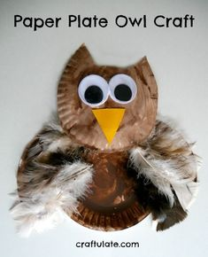 will have such fun making this adorable owl craft from paper plates! This paper plate owl is such a lovely craft for young kids to make!Make Make or MAKE may refer to: Paper Plate Crafts For Kids, Animal Crafts For Kids, Crafts For Kids To Make, Toddler Crafts, Preschool Crafts, Art For Kids, Paper Crafts, Craft Kids, Kids Diy