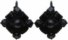Konplott Noir Eurowire Diamond-Shape Earrings, $40.95