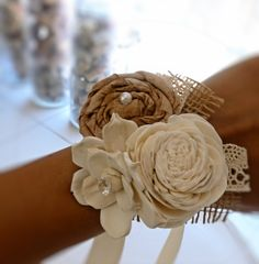 Wedding Corsage Made to Order-Wedding Flowers Mother of the Bride Wedding Party Flowers Rustic Wedding Country Chic Wedding. $24.00, via Etsy.