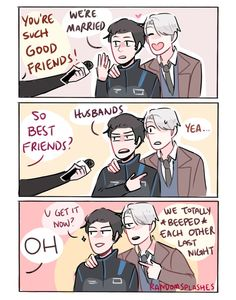 Read Some comics from the story Yuri! On Ice comics, pics, and ships! Yuri!!! On Ice, Ice Ice Baby, Yuri On Ice Comic, Fangirl, Victor Nikiforov, Just Good Friends, Katsudon, Comic Pictures, Pictures Images