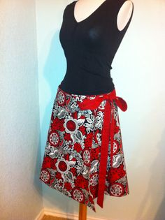 Super easy wrap around skirt.