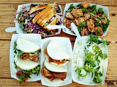 "Mexican food trucks were a mainstay in L.A. for decades before a chef named Roy Choi started going around the city selling Korean tacos out of a truck in 2008. The Kogi Korean BBQ pioneered the use of Twitter to mobilize its customer base, and Newsweek called Kogi ""America's first viral eatery"" in 2009. Kogi no sooner found fame than a fleet of taco trucks started rolling through every state. By 2010, the Food Network started airing a reality competition called The Great Food Truck Race…"