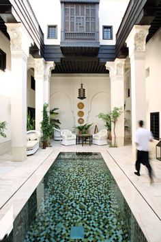 Beautiful Riad Courtyard - love the pool