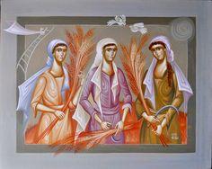 Rural women of Greece painting series by Alexandra Tsigkou Richard Burlet, Greece Painting, Greek Art, Byzantine, Old And New, Surrealism, Character Art, Modern Art, Sculptures