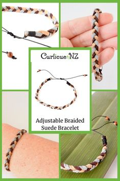 A beautiful adjustable unisex or mens bracelet handmade from soft faux suede cord, with gemstones at each end. Bracelets For Men, Handmade Bracelets, Handmade Jewelry, Handmade Gifts For Men, Suede Bracelet, Next Gifts, Mens Braids, Gift Wrapping Services, Homemade Gifts