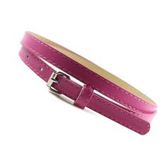 Sweetness Womens Faux Leather Belts Candy Color Thin Skinny Waistband Adjustable…
