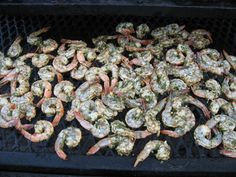 Shrimp on the grill.