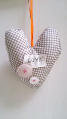 Heart Decoration  rustic hanging decoration perfect by Madebydolly