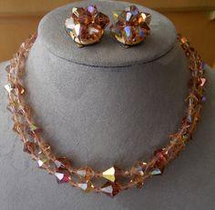 Amber Aurora Borealis Austrian Crystal Bead 2 by CornermouseHouse