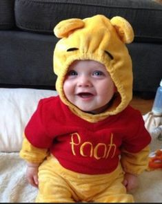 39 Baby Halloween Costumes Even More Delicious Than Candy Win. - 39 Baby Halloween Costumes Even More Delicious Than Candy Winnie the Pooh – Baby Halloween Costumes Even More Delicious Than Candy Funny Baby Costumes, Funny Baby Clothes, Boy Costumes, Baby Costumes For Boys, Winter Baby Clothes, Costume Ideas, Halloween Bebes, Cute Baby Halloween Costumes, Family Halloween