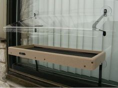 Recycled Window-Mount Platform Feeder w/ Cover