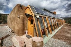At this Earthship community in New Mexico, renters can give sustainable living a try