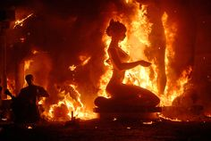 Festival of fire Las Fallas