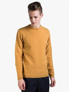 Norse Projects Strickpullover Sigfred Lambswool Mustard Yellow