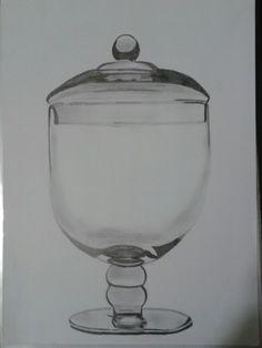 Pote de vidro - grafite