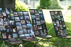 "pics of outdoor graduation parties | The ""this is your life"" photo display. This was not the trend when our ..."