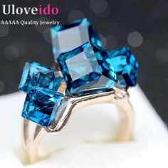 Find More Rings Information about Uloveido Sale Gifts for New Year Rose Gold Plated Jewelry Woman's Crystal Square Stone Punk Rings for Women Anillos 2016 GR123,High Quality punk rings for women,China rings for women Suppliers, Cheap punk ring from Uloveido Official Store on Aliexpress.com
