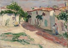View Rue de village By Albert Marquet; oil on canvas; Access more artwork lots and estimated & realized auction prices on MutualArt. Henri Matisse, Post Impressionism, Impressionist Art, Illustrations, Illustration Art, Nautical Nursery Decor, Raoul Dufy, Art Aquarelle, Georges Braque