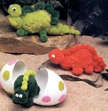 Pom Pom dinosaurs -- Mike Cute, but my toddler would systematically tear them up...