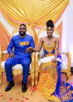 How beautiful are the colours in an African wedding? African Wedding Attire, African Attire, African Wear, African Dress, African Weddings, Nigerian Weddings, African Inspired Fashion, Africa Fashion, African Fashion Dresses