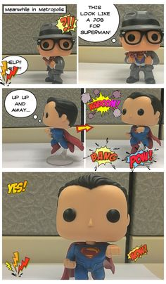 Superman saved the day..Little editing