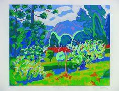 nimá de Paula Paisagem – 50 x 70 cm – Serigrafia Ass. CID e Dat. 1993