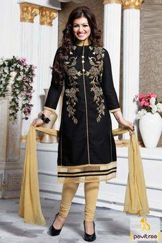 #Aayesha Takia, #Black and Cream, #Chiffon, #Cotton, #Embroidery Suit, #Gracefull, #Fashionable, #Embroidery Work, #Sangeet, #Wedding, #Mahendi, #Party.