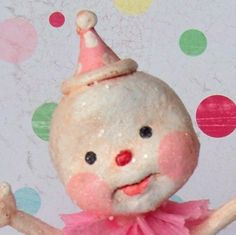 Bubblemint Snowpixie  A  Folk Art  Snowman in by thepolkadotpixie
