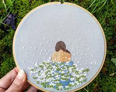 Spring Flurries Embroidery embroidery hoop embroidery art wall hanging
