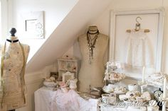 Just lovely! Love the framed dress, what a beautiful way to display treasures ...