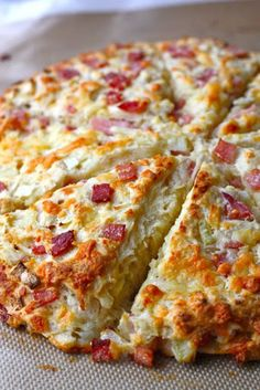 Ham and Cheese Scones. I made these and they are divine. Great for a quick breakfast grab.