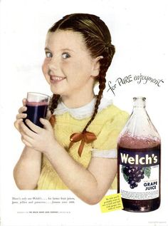 Welch's Grape Juice (1965) Water and this grape juice were about the only things I would drink as a kid.