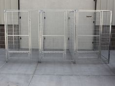 k9 kennel inline dog kennel system with no backs. using wall mount brackets