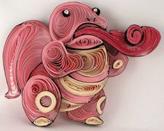 Paper Quilling Lickitung - 108 by wholedwarf on deviantART