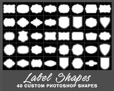 For your crafting projects, here is a brand new set of Photoshop custom shapes featuring different vintage label shapes. These label shapes are perfect for creating your very own jar and bottle labels. Photoshop Shapes, Free Photoshop, Label Shapes, Vintage Labels, Bottle Labels, Jars, Bottles, Kombucha, Portrait