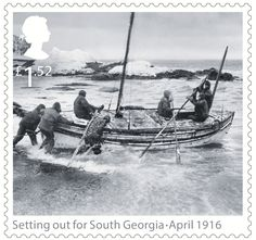 Shackleton and the Endurance Expedition 1st Stamp (2016) Setting out for South Georgia - April 1916