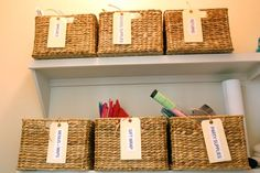 designate a basket for library &/or movie returns, dry clean, lost and found from visitors, errands...