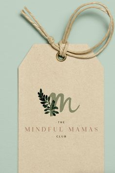 The Mindful Mamas Club Brand Identity Design. Tag Design, Label Design, Print Design, Club Design, Cover Design, Packaging Design Inspiration, Graphic Design Inspiration, John Coffey, Brand Identity Design